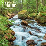 Maine, Wild & Scenic 2018 12 x 12 Inch Monthly Square Wall Calendar, USA United States of America Northeast State Nature