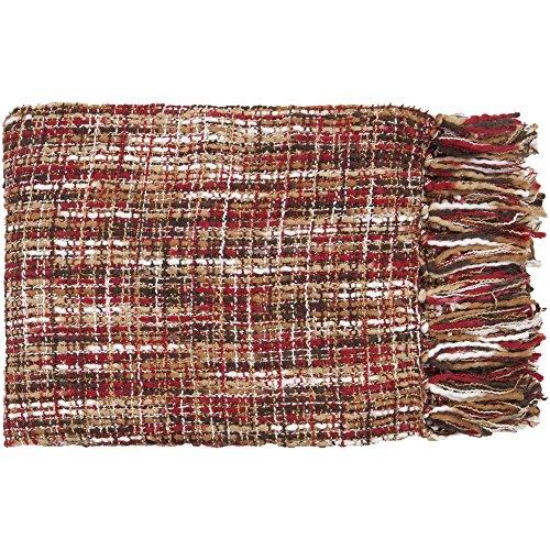 Surya Tabitha TAT-8202 Knit Hand Woven 100% Acrylic Red 50