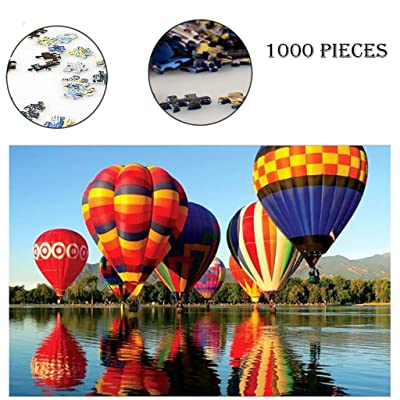 IZHH Jigsaw Puzzles,Jigsaw Puzzles for Adults Children Puzzle 1000 Piece Jigsaw Puzzle Landscape Pattern - Puzzle Measures 29.53 x 19.69 inch (1000 Piece, B): Home & Kitchen