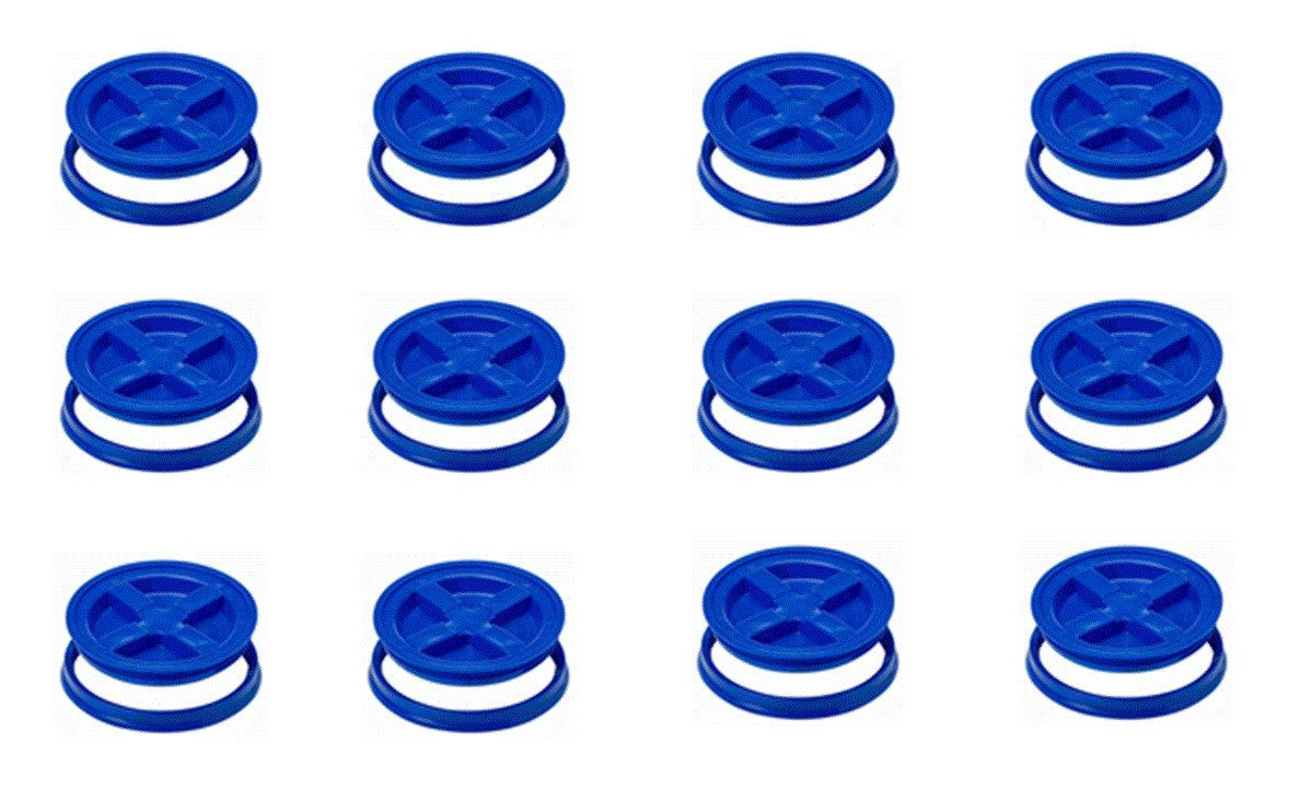 5 Gallon Blue Gamma Seal Lids- 12 Pack