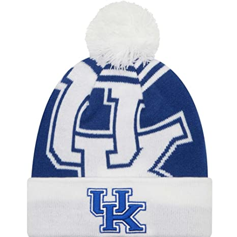 new concept 87671 7fe40 Image Unavailable. Image not available for. Color  Kentucky Wildcats New Era  Logo Whiz 2 Cuffed Pom Knit Beanie ...