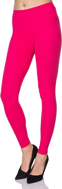 FUTURO FASHION Taille Haute Coton Doux Legging Long pour Femme Grandes Tailles
