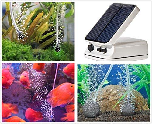 Sunnytech solar power pond oxygenator air pump oxygen pool for Solar fish for pools