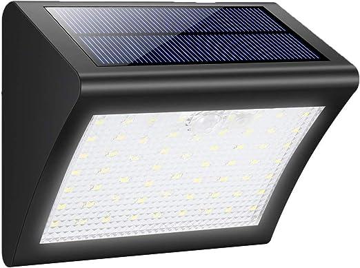 LIXI Luz Solar Jardín, Lámparas Solares Impermeable Focos LED Exterior Solares con Sensor de Seguridad por Movimiento Inalámbricas para Jardín Muros Exteriore Patios Terrazas,1pack: Amazon.es: Hogar