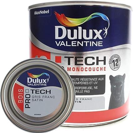 Dulux Valentine Peinture Bois Pro Tech Gris Franc 0 5 L Amazon Fr Bricolage