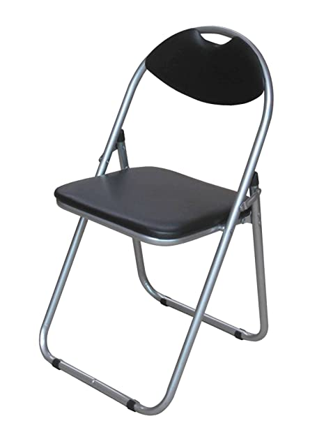 Black Padded Folding Office Desk Chair Easily Stores Away Amazon