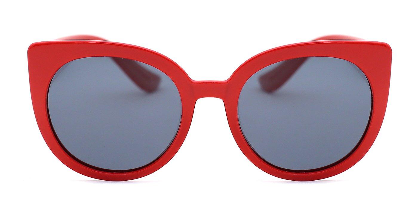 TIJN Girls Laconic Style Cat Eye Frame Polarized Sunglasses