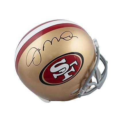 ad14d754a Joe Montana Autographed San Francisco 49ers Full-Size Football Helmet -  Leaf COA