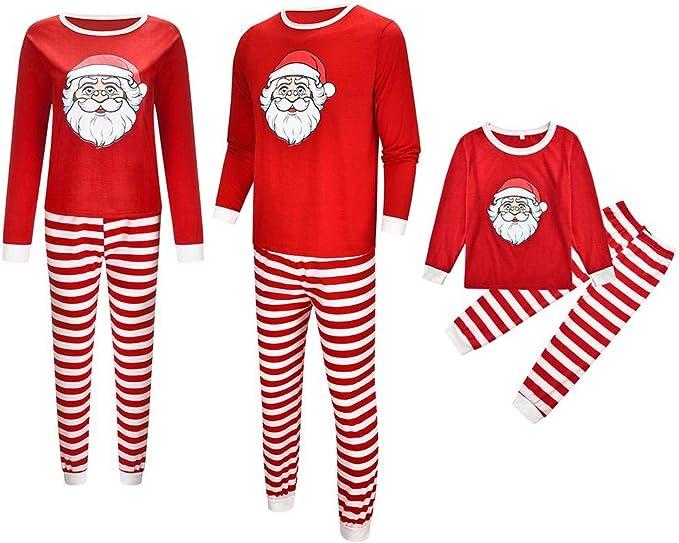 HOHOFAN - Disfraz de Pijama de Papá Noel, Estampado de Padres y ...