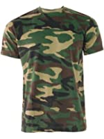 Woodland Camouflage Military Army Combat Paintball T-Shirt