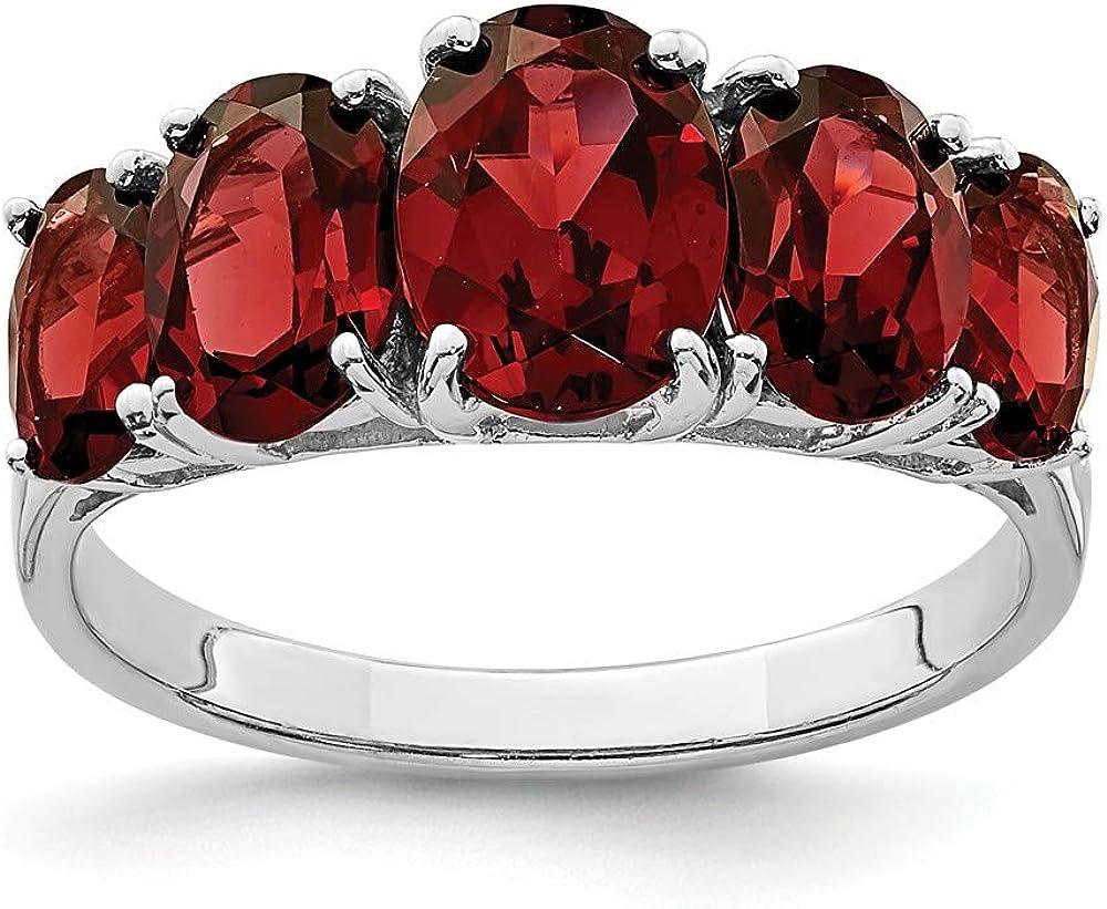 Red Garnet gemstone ring Womengift for her 925 Sterling Silver ring,Garnet engagement ring Natural Garnet ring Oval cut garnet 5*7 mm