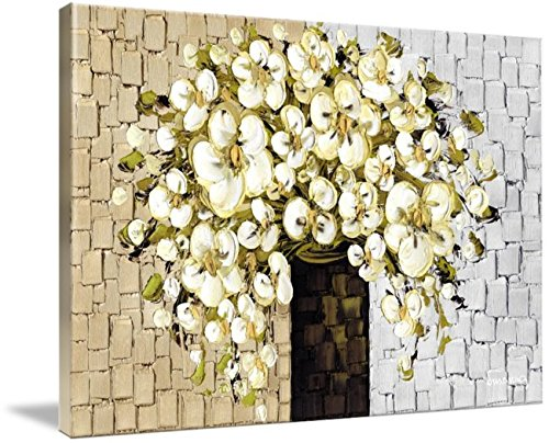 Amazon white flowers bouquet still life fine art print no white flowers bouquet still life fine art print no texture on stretched canvas mightylinksfo