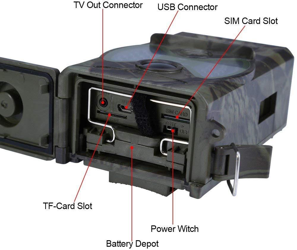 Cámara de Juego de Caza de visión Nocturna MMS GPRS con Panel Solar Cargador de energía Capturas de Fotos Paquete de energía Solar cámara Salvaje CE ROHS: ...