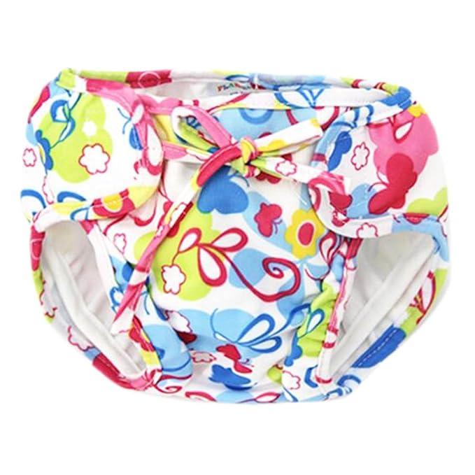 LUNA VOW Pañales de ducha absorbentes ajustables del pañal de natación reutilizable para el niño del