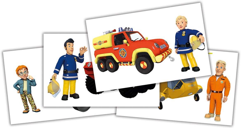 4 Figures Simba 109251066 Feuerwehrmann Sammelfiguren Figuren Fireman Sam Collectable Series 1