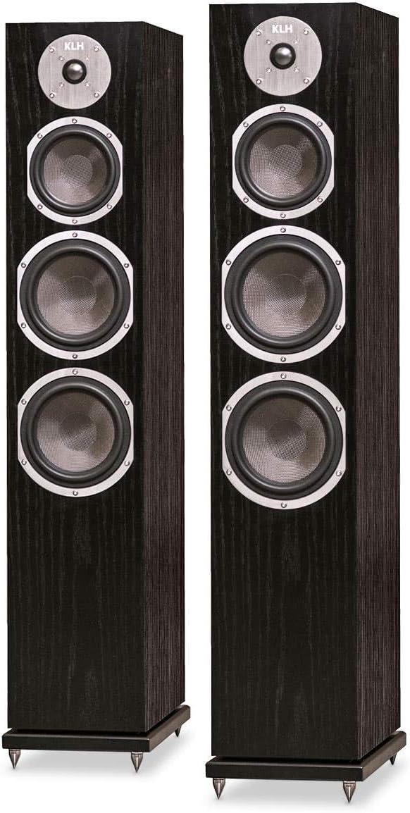 7. KLH Kendall Floorstanding Loudspeakers - Pair (Black Oak)