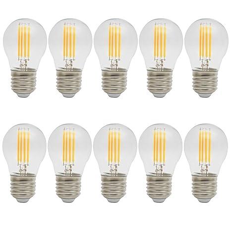 10X E27 Bombillas Edison Retro 4W Bombilla Filamento LED Super Brillant 400LM LED Edison 400LM Sustitución