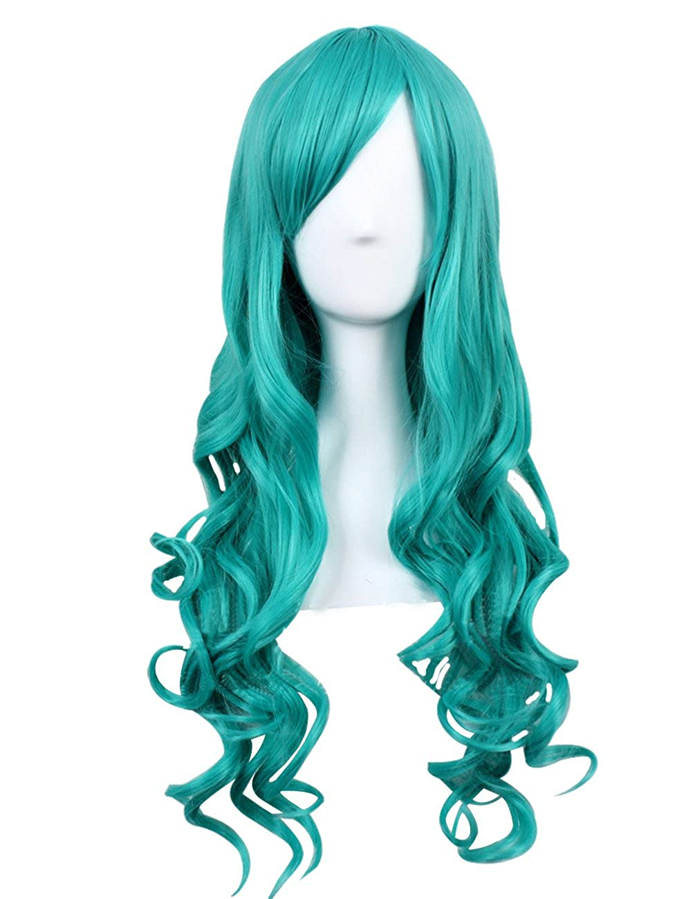 Amazon Com Anime Characters Play Long Hair Cosplay Wig Light Green