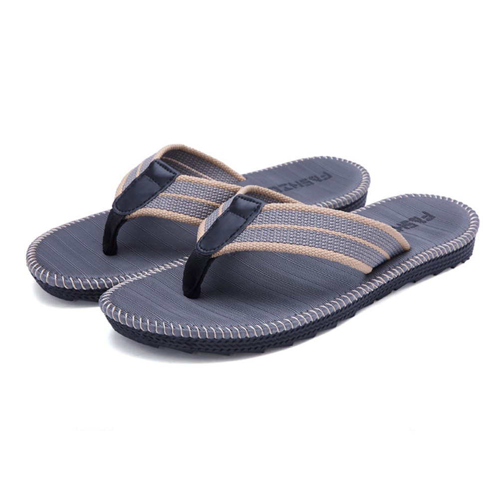 Flip-folps Non-slip Sole Pool Shoes Y-style Thong Sandals Anti-stink Beach Bathroom Slides, Men's Size