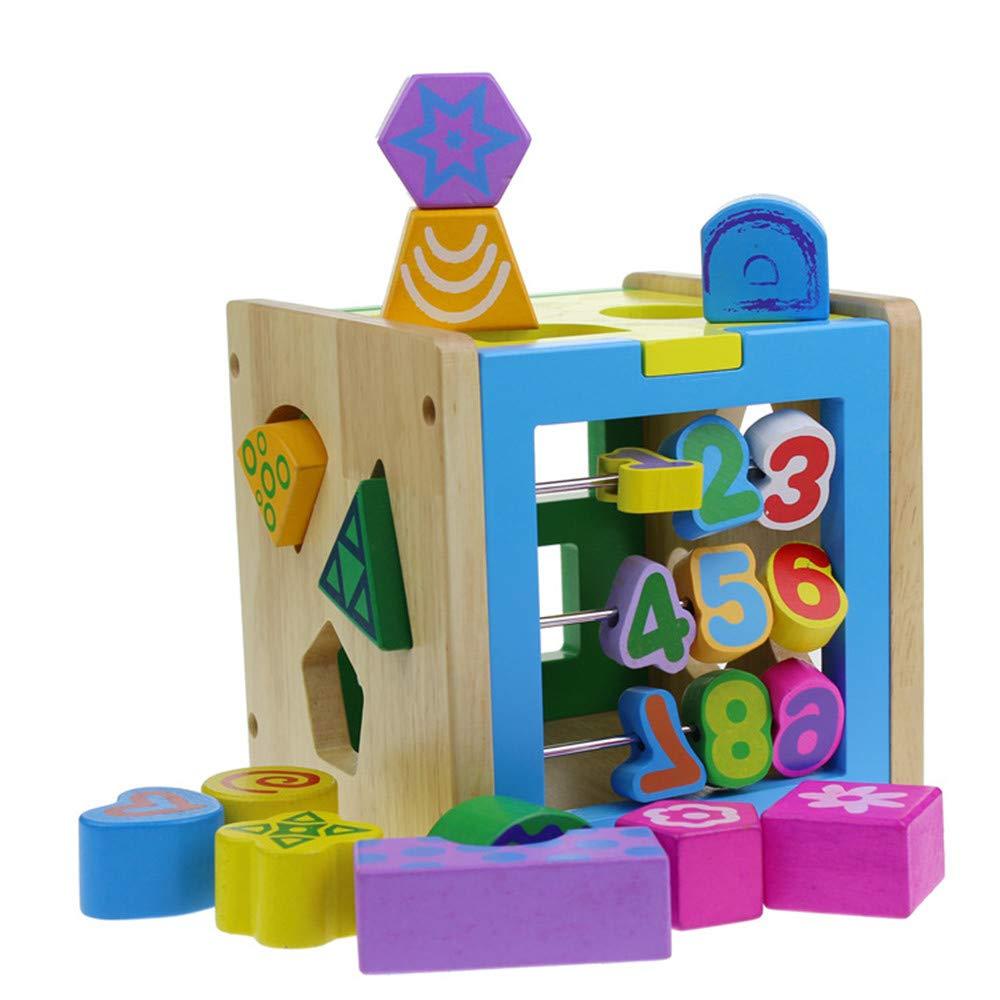 Techecho 幼児用おもちゃ 早期教育 カラーデジタル知育ボックス 知育玩具 1歳から3歳のお子様向け組み立てブロック   B07PR8NW7V