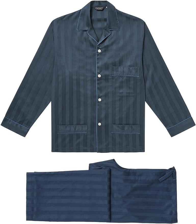 BONSOIR - Pijama - para Hombre Azul Azul Marino M: Amazon ...