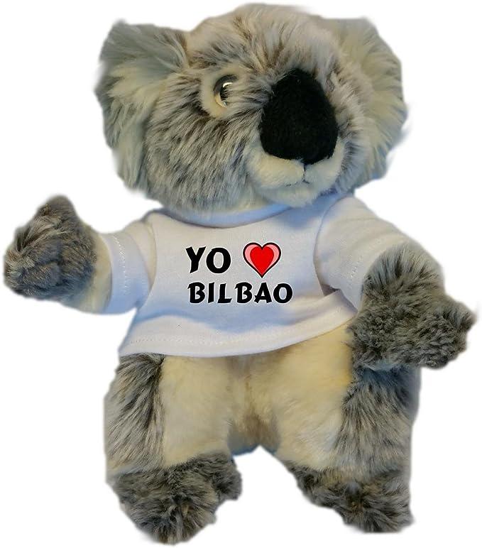 Koala personalizada de peluche (juguete) con Amo Bilbao en la ...