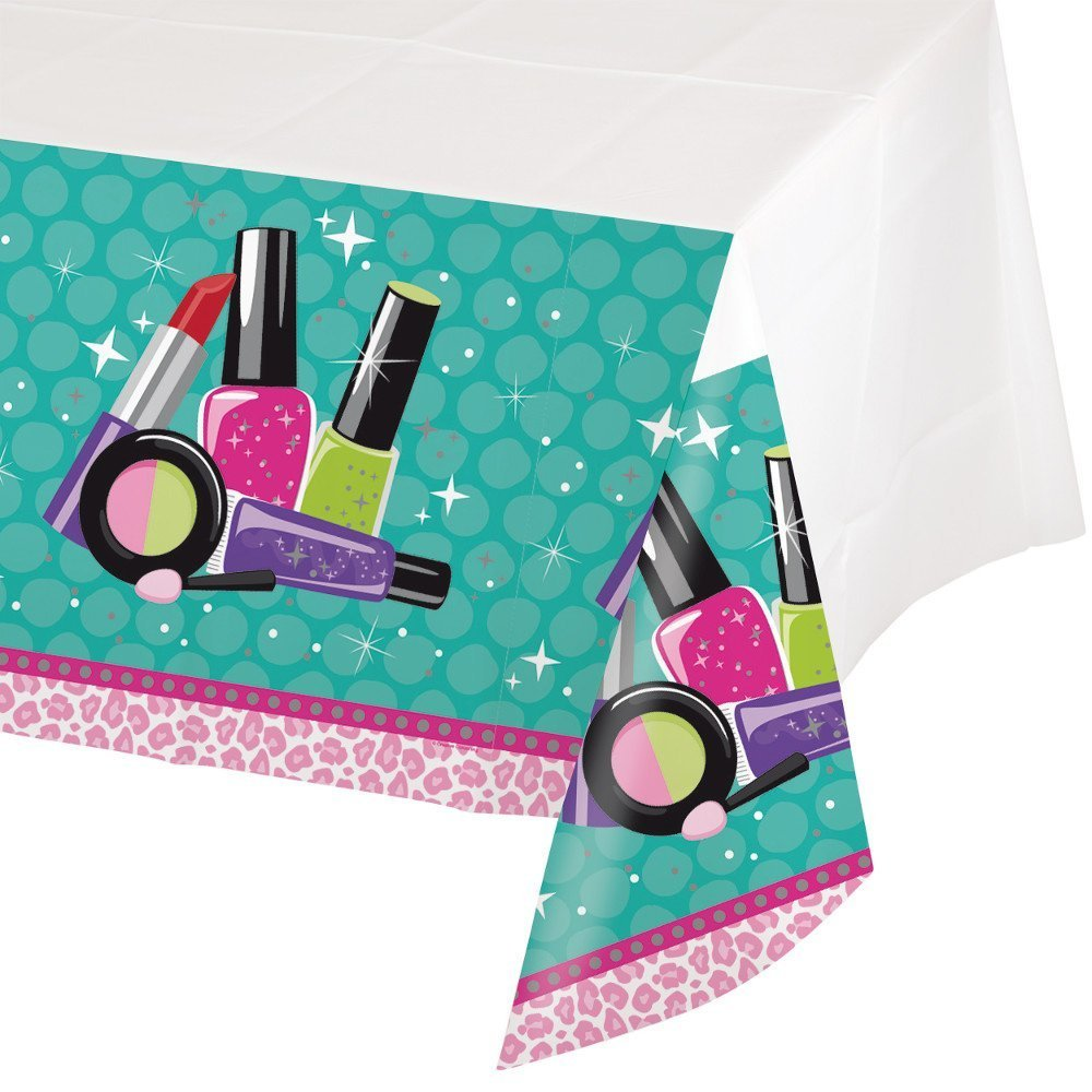 Sparkle Spa Party Supplies Pack Bundle for 16 Guests: Straws, Dessert Plates, Beverage Napkins, Cups, and Table Cover by Cedar Crate Market (Image #5)
