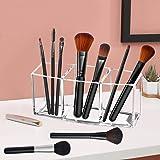 Tasybox Clear Makeup Brush Holder Organizer, 3 Slot