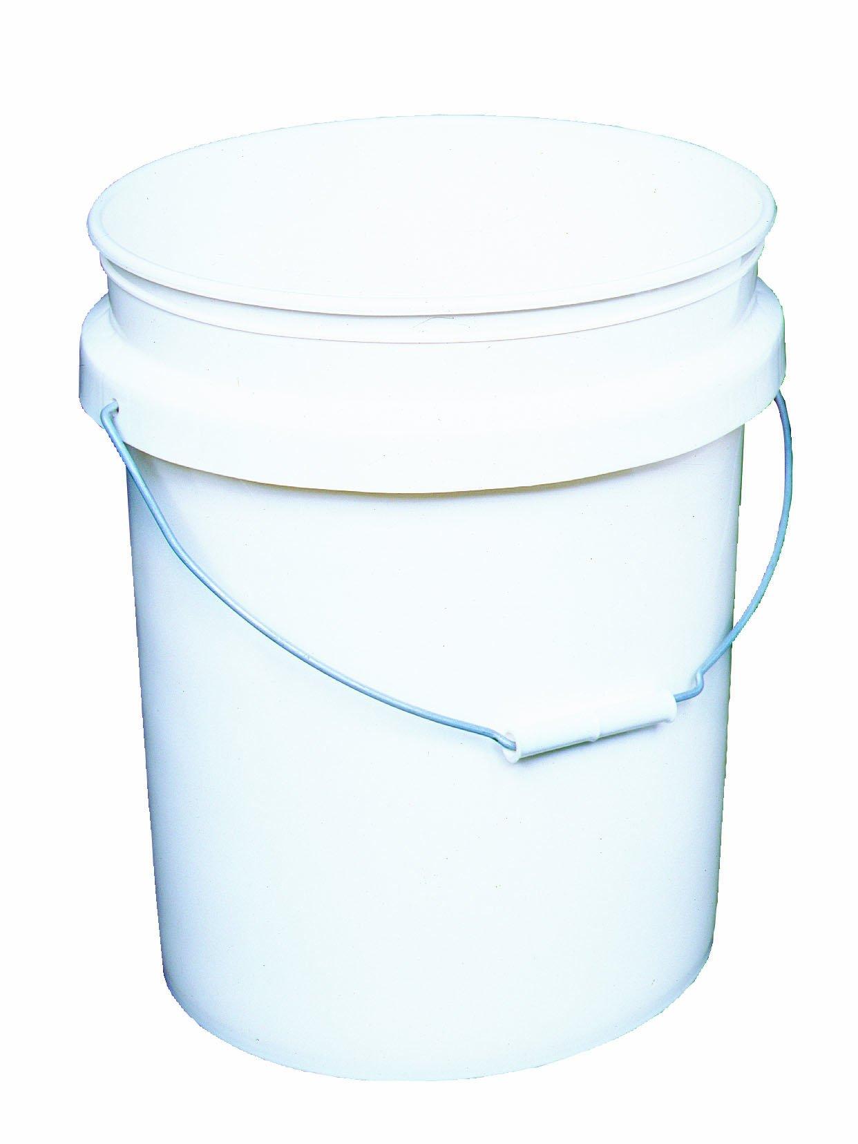 Encore Plastics 50640 Industrial Plastic 70-Mil with Handle, 5-Gallon, Pail White