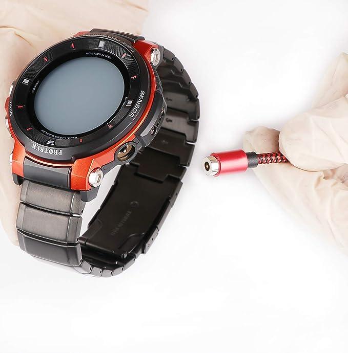 Cable de Carga magnético Trenzado de Nailon para Reloj ...