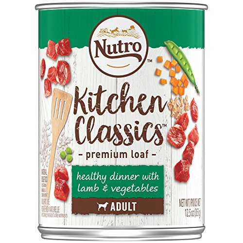 (DISCONTINUED: NUTRO Kitchen Classics Adult Wet Dog Food, Healthy Dinner With Lamb and Vegetables, Premium Loaf 12.5 Ounce Cans (Pack of 12); Rich in Nutrients and Full of Flavor; Supports)