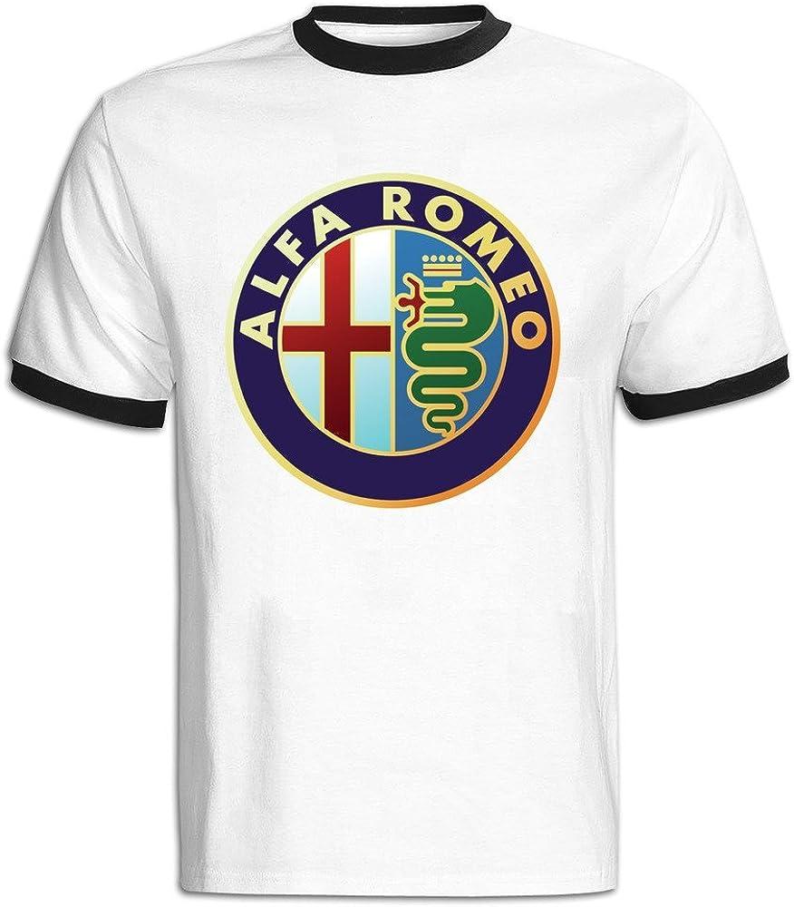 Men's Alfa Romeo Symbol Baseball T Shirt Black