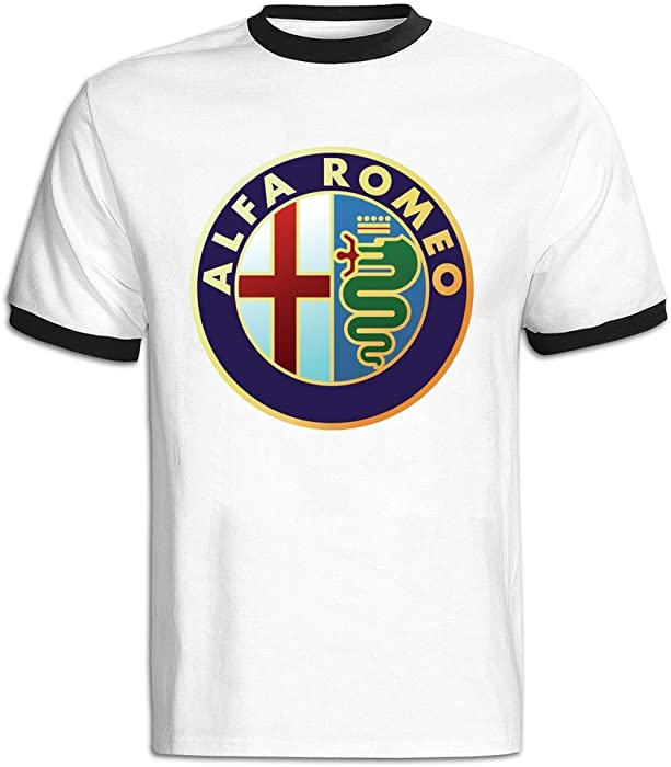 Amazon Mens Alfa Romeo Symbol Baseball T Shirt Black Clothing