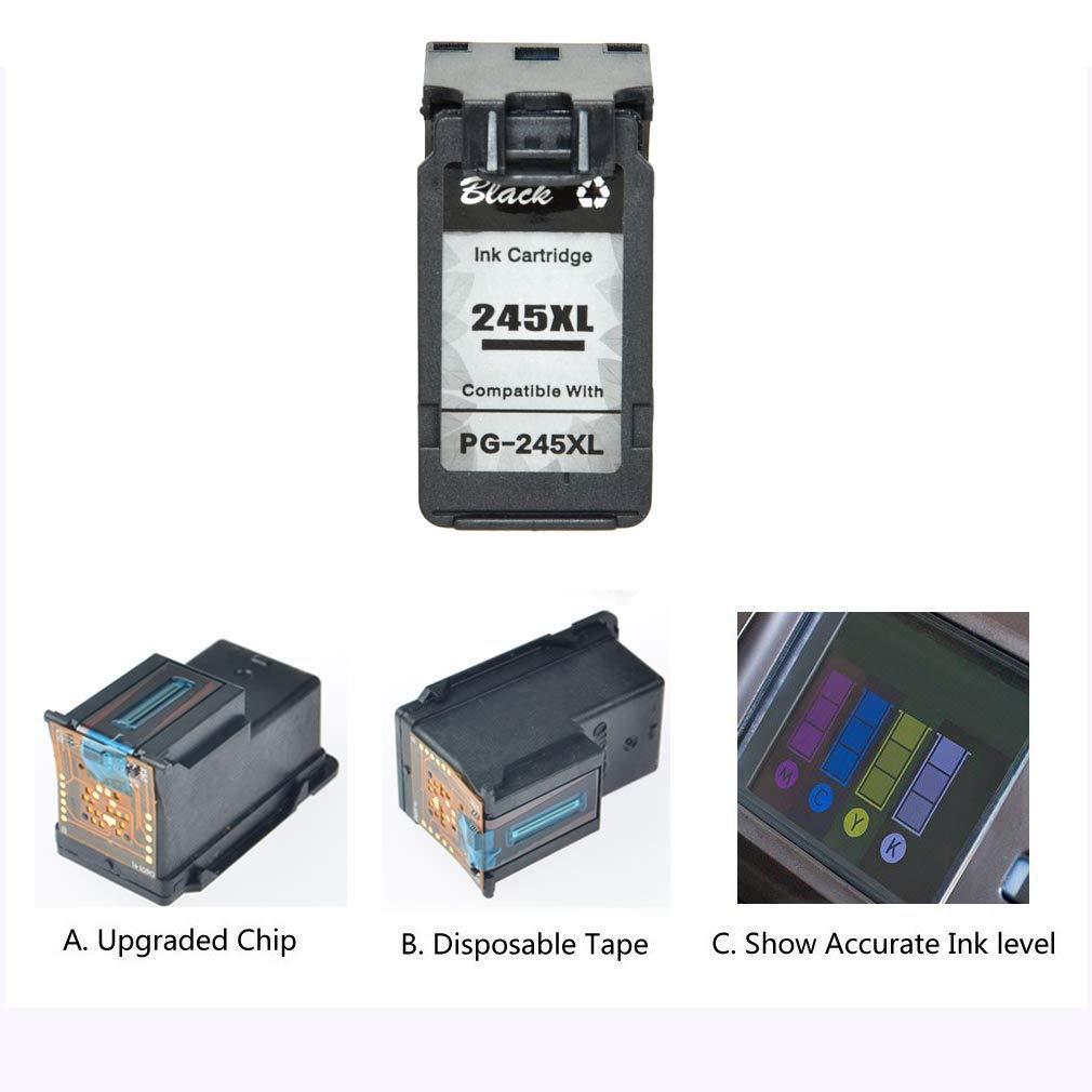 4PK PG-245XL 245XL Black Ink Cartirdge Compatible for Canon PIXMA Series Printer