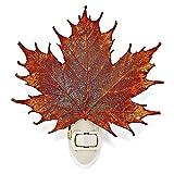 Jewelry Adviser Gifts Iridescent Copper Dipped Sugar Maple Leaf Nightlight