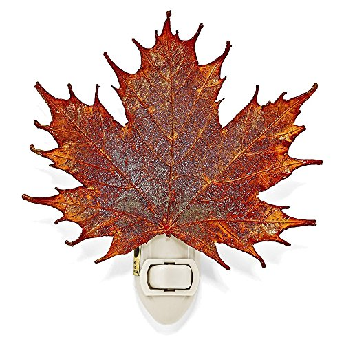 Jewelry Adviser Gifts Iridescent Copper Dipped Sugar Maple Leaf (Iridescent Copper Night Lights)