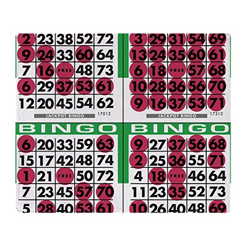 CafePress - Jackpot Bingo Cards 1 Bag - Soft Fleece Throw Blanket, 50
