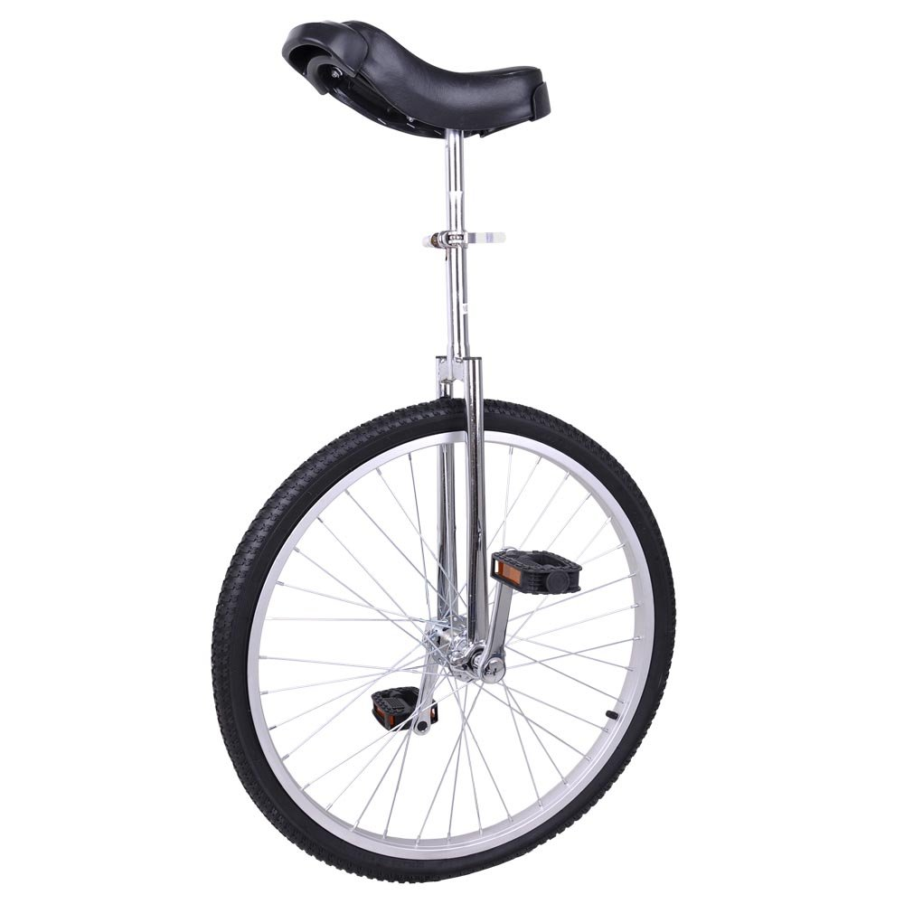 AW 24'' Inch Wheel Unicycle Leakproof Butyl Tire Wheel Cycling Outdoor Sports Fitness Exercise Health Silver