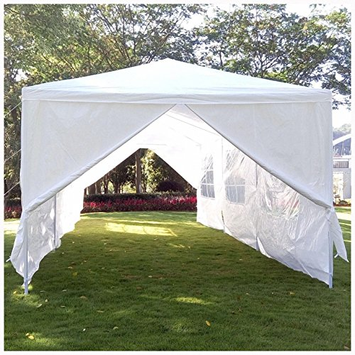 Mefeir 10' x 30 Party Wedding Outdoor BBQ Patio Tent,with 8 Removable sidewalls,Sun Snow Shade Canopy Gazebo Pavilion Events Canopies by Mefeir