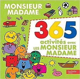 Amazon Fr Monsieur Madame 365 Activites Collectif Livres