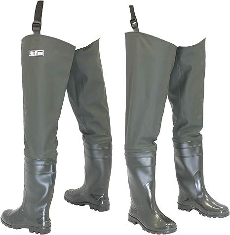 FortMen – Pantaloni da Pescatore da Uomo con Stivali