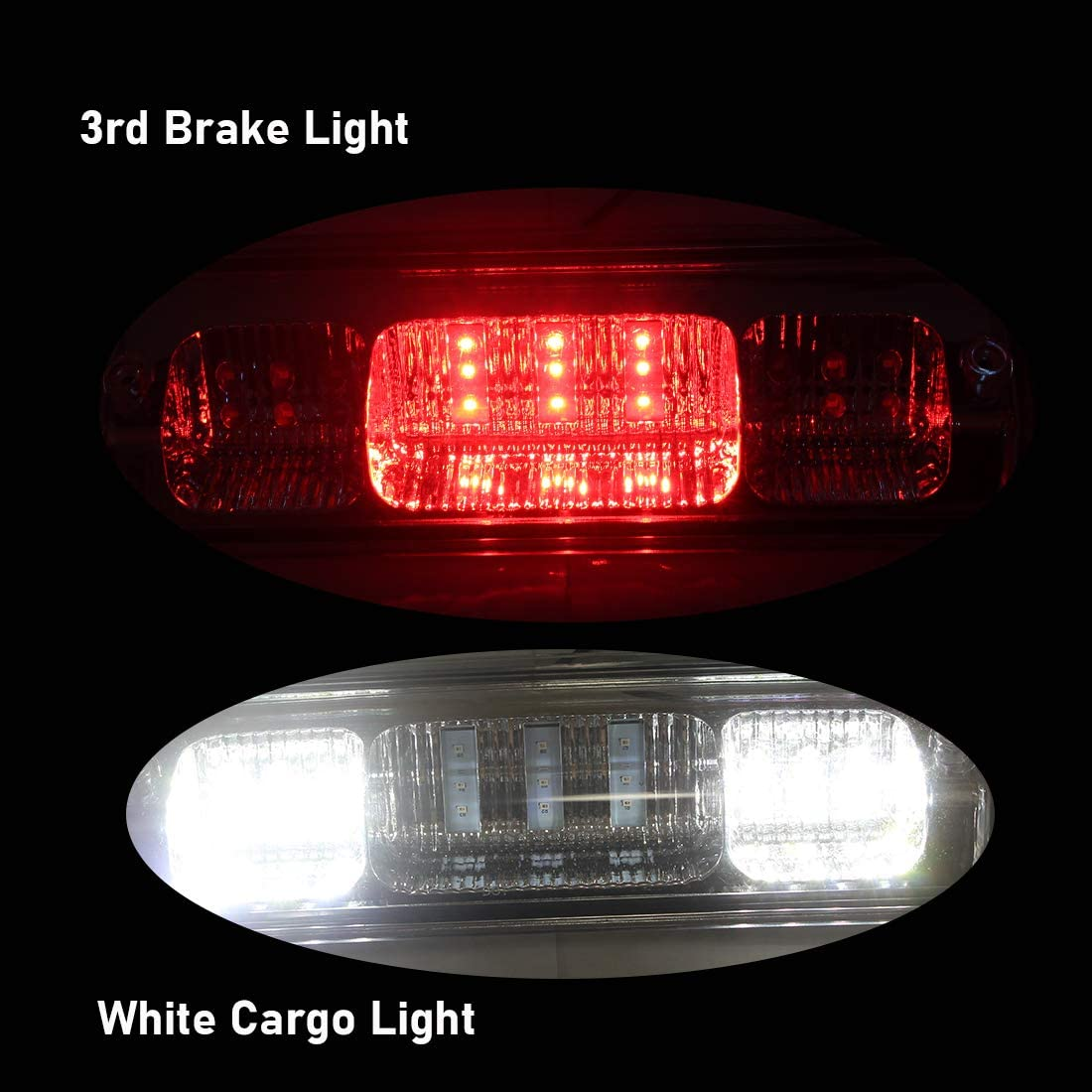 07-10 Ford Explorer Sport Trac Tail High Mount Stop Light Assembly NPAUTO LED Third 3rd Brake Light Cargo Lamp Replacement for 2004-2008 Ford F150 Lobo 06-08 Lincoln Mark LT