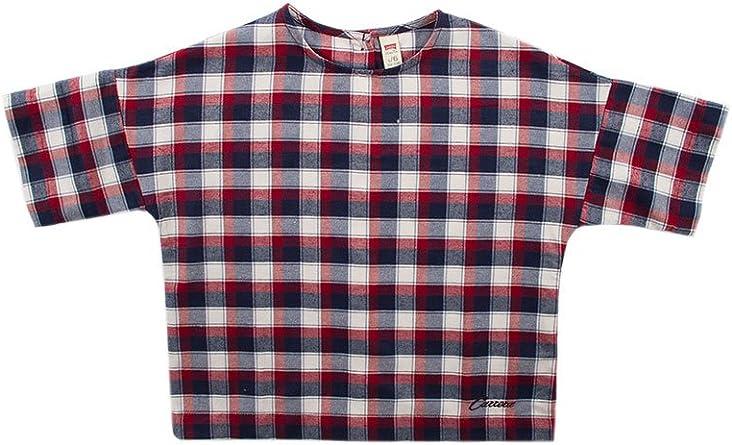 Carrera Jeans - Camiseta para niña, a Cuadros ES 110: Amazon.es: Ropa y accesorios