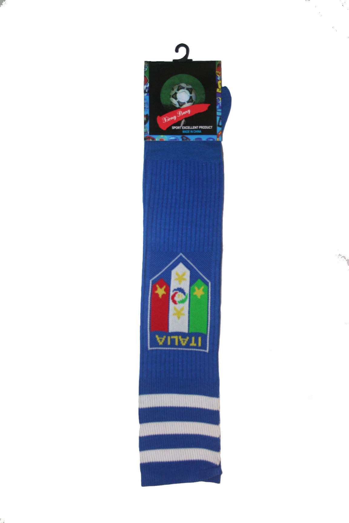 Italia Italy Blue FIGC Logo Soccer World Cup Socks .. Adult Size .. New