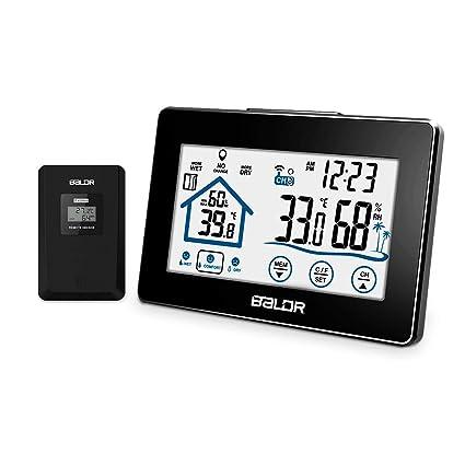 DE LCD Digital Wetterstation Hydrometer Thermometer Luftfeuchtigkeit Touch NEU