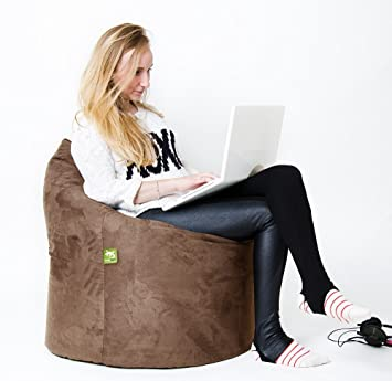 Remarkable Lounge Lizard Metropolis Bean Bag Pouf Chair Chocolate By The Beanbag Comfort Co Andrewgaddart Wooden Chair Designs For Living Room Andrewgaddartcom