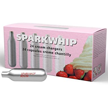 iSi North America 058299 Sparkwhip 24 Pack Cream Whipper Charger, Silver