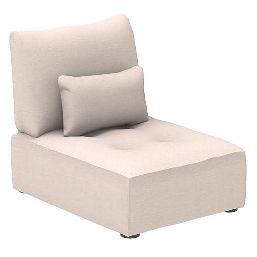 Marca Amazon - Alkove Elvas - Módulo uniplaza con almacenaje y cojín adicional para sofá modular, 70 x 100 cm, beige