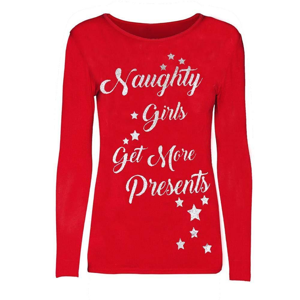 Oliviavan Women Casual Blouse, Christmas Ladies Letter Printed Sweatshirt Pullover T-Shirt