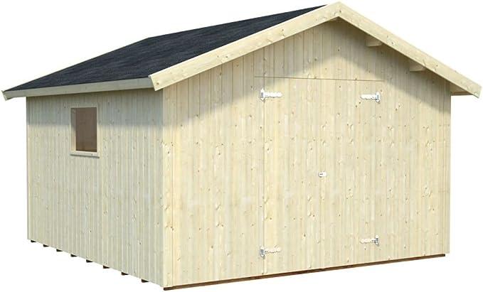 Tilia T10c - Cobertizo de madera con suelo (16 mm, superficie de 12,30 m²): Amazon.es: Bricolaje y herramientas